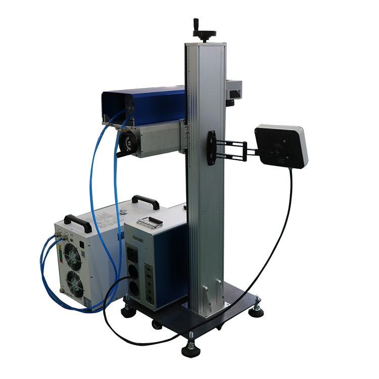 flying UV laser marking machine with conveyor