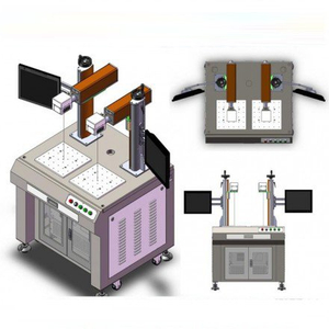 double head fiber laser marking machine